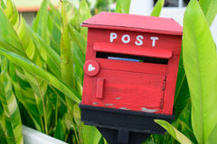 The wooden mail box Stock Image