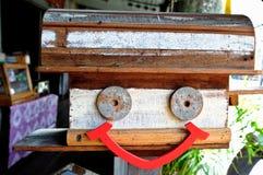 Wooden mailbox royalty free stock photos