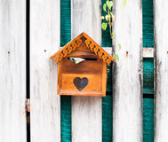 Wooden Mailbox for get mail Royalty Free Stock Photos