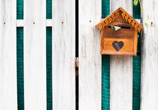 Wooden Mailbox for get mail Stock Photos