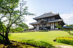 Wooden main building of Todaiji temple Royalty Free Stock Image
