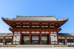 Wooden main building of Todaiji temple in Nara Stock Photo