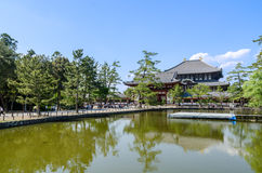 Wooden main building of Todaiji temple in Nara Stock Photography