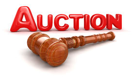 Wooden Mallet and Auction Royalty Free Stock Photography