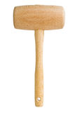 Wooden mallet isolated Stock Images