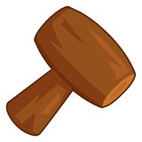 Wooden mallet isolated illustration Stock Photo