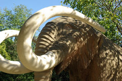 Wooden Mammoth Statue. In the Parc de Ciutadella, Barcelona Royalty Free Stock Images