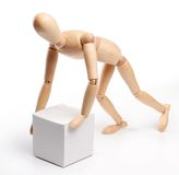 Wooden man royalty free stock images