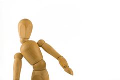 Wooden man. Multi jointed male wood body isolated on the white background Stock Image