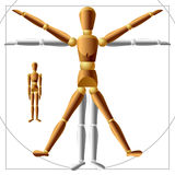 Wooden man. Vector wooden man. You can easily transform (rotate) all body parts in vector Stock Photo