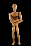 Wooden man with crossed arms Royalty Free Stock Photo