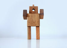 Wooden man figure Royalty Free Stock Photo
