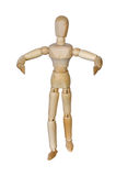 Wooden man with hands Stock Photos