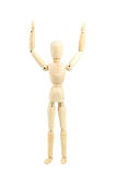 Wooden man isolated on white Royalty Free Stock Photo