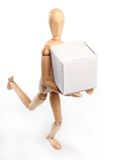 Wooden man running Stock Photos