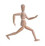 Wooden man running Stock Image