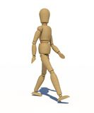 The wooden man walking Royalty Free Stock Images