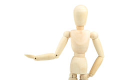 Wooden man on white background Royalty Free Stock Images