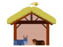 Isolated wooden manger stock illustration