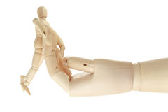 Free Wooden Mannequin Clings Big Hand Stock Photo - 20570740
