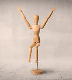 Wooden mannequin concept Stock Image