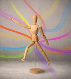 Wooden mannequin concept Royalty Free Stock Images
