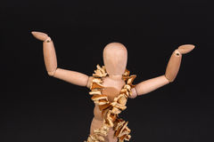 A wooden mannequin dancing Royalty Free Stock Image