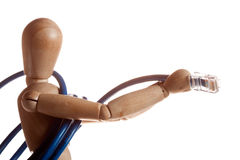 wooden mannequin doll model from Ikea gestalta. Stock Images