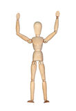 Wooden mannequin with extended arms Royalty Free Stock Photos