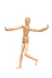 A wooden mannequin gesticulate Royalty Free Stock Image