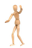 A wooden mannequin gesticulate Stock Photography