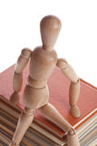 Wooden mannequin man from Ikea gestalta. Royalty Free Stock Photography