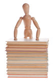 Wooden mannequin man from Ikea gestalta. Royalty Free Stock Photos