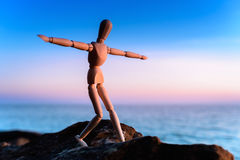 Wooden mannequin Royalty Free Stock Image