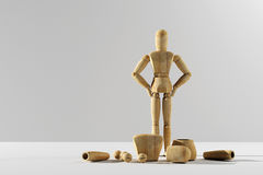 Wooden mannequin prototype of human Stock Photography