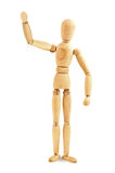 Wooden mannequin waving Royalty Free Stock Photo