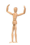 A wooden mannequin work out Stock Image