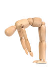 A wooden mannequin work out Royalty Free Stock Images