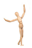 A wooden mannequin work out Royalty Free Stock Photography