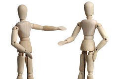 Wooden Mannequins royalty free stock photos