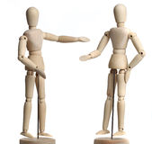 Wooden Mannequins Stock Images