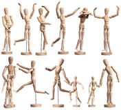 Wooden Mannequins Stock Photography
