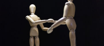 Wooden Mannequins-shaking-focusBlur Stock Photo