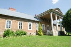 Wooden manor in Veliuona Stock Images