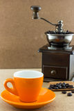 Wooden manual coffee grinder Royalty Free Stock Photos