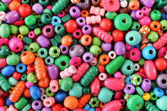 Wooden many-colored beads Royalty Free Stock Photo