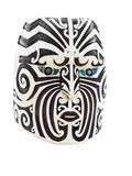 Wooden Maori Face Stock Photography