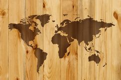 Wooden map Stock Image