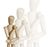 Wooden marionettes Stock Photos