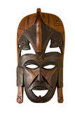 Wooden Mask. Wooden African mask isolated on white (includes clipping path Royalty Free Stock Photography